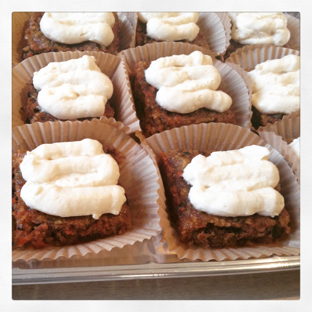 Carrot Cake Ready to go to the office!