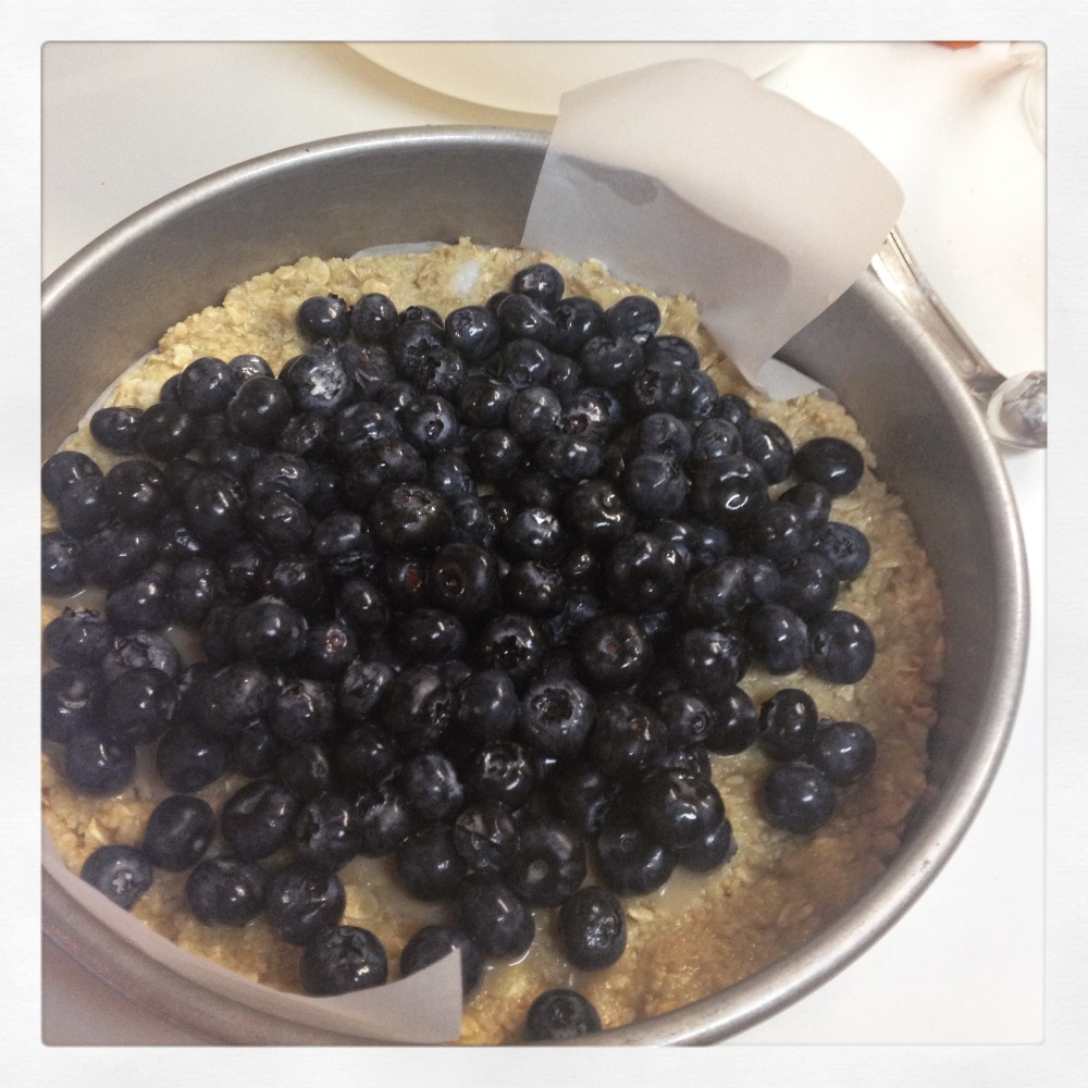 Blueberry Crumble assembly