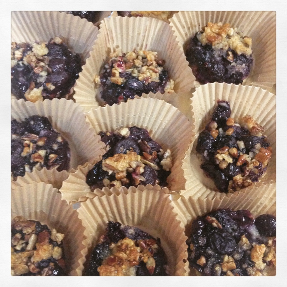 Blueberry Crumble bites ready to go to the office!